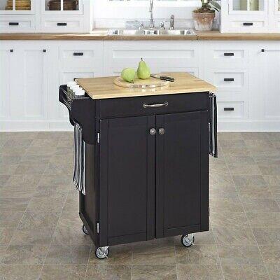 Home Styles Black Kitchen Cart