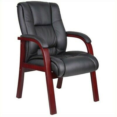 Boss Office Products Mid Back Wooded Guest Chair