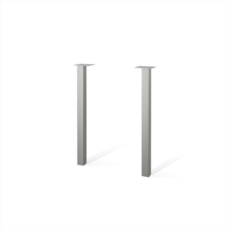 Bestar Contempo Metal Legs in Silver (Set of 2)