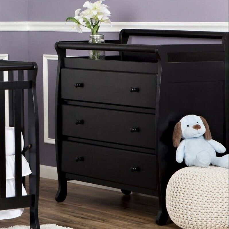 Dream On Me Liberty 3 Drawer Changing Table in Black