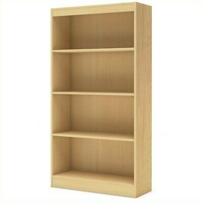 South Shore Axess Contemporary Style 4 Shelf Bookcase in Natural Maple