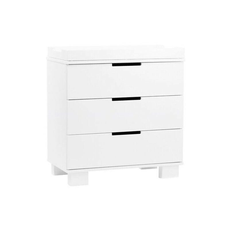 Babyletto Modo 3 Drawer Changer Dresser with Removable Changing Tray in White