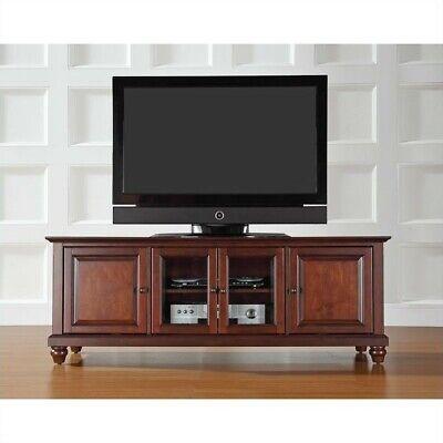 "Crosley Furniture Cambridge 60"" Low Profile TV Stand in Vintage Mahogany"