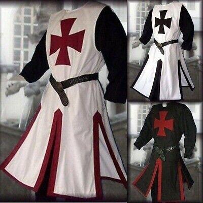 Herren Mittelalter Cosplay Roben Ritter Kreuzritter Surcoat Reenactment - Ritter Kreuzritter Kostüm