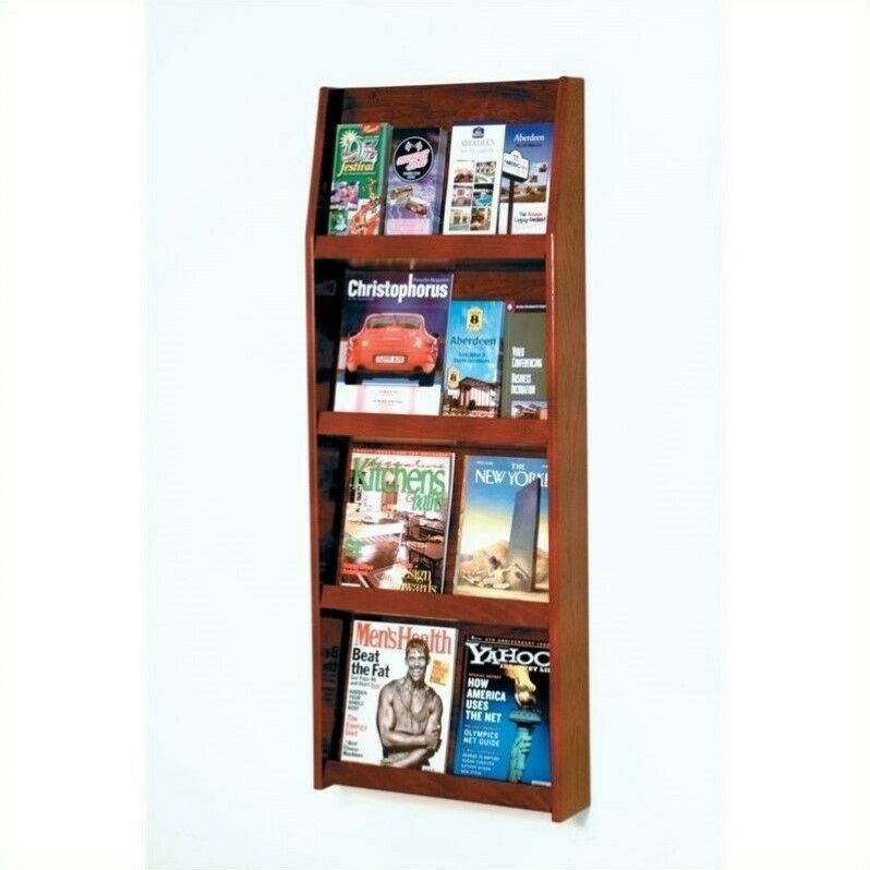 Wooden Mallet Literature Display in Mahogany