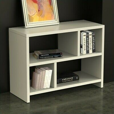 Scranton & Co Bookend Console Table in White