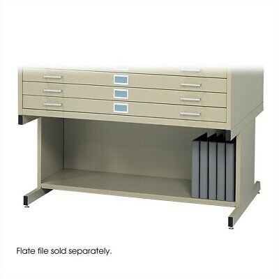 "Safco Open 20""H Base for Flat File Cabinet in Tropic Sand"