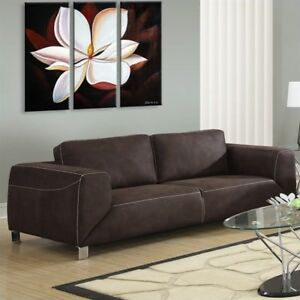 Phenomenal Monarch Specialties Chocolate Brown Tan Contrast Micro Suede Sofa Beatyapartments Chair Design Images Beatyapartmentscom