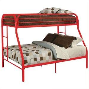 Acme Furniture 02053rd Tritan Metal Twin Over Full Bunk Bed In Ebay