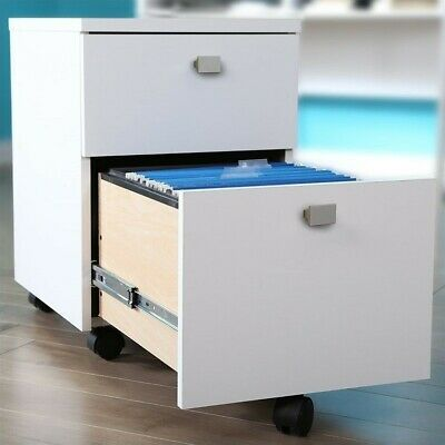 South Shore Interface 2-drawer Mobile File Cabinet In Pure White