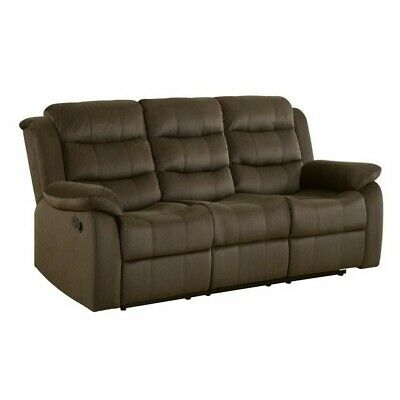 Coaster Rodman Velvet Reclining Sofa in Chocolate Chocolate Reclining Sofa