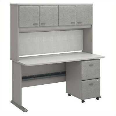 Series A Office Desk with Hutch and 2 Drawers Mobile