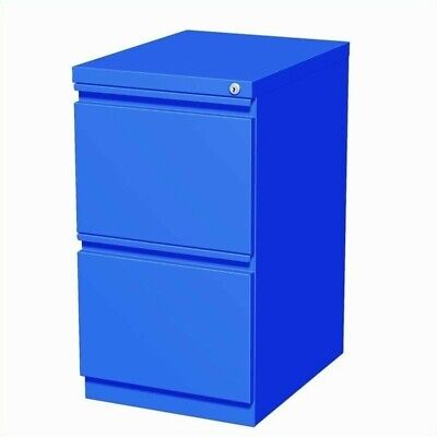 Hirsh 20 In Deep 2 Drawer Mobile File Cabinet In Blue