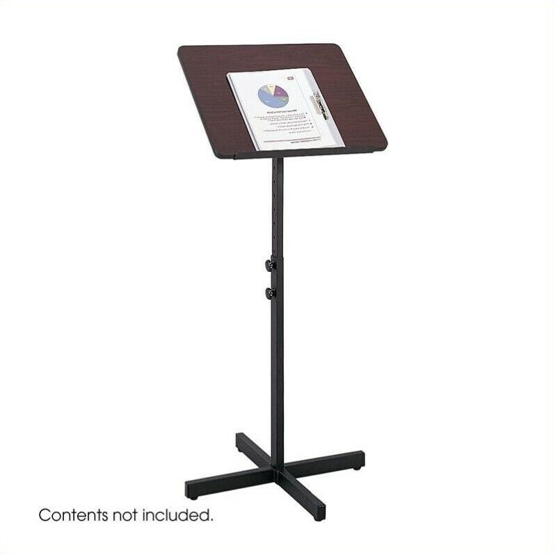 Safco Mahogany Adjustable Lectern