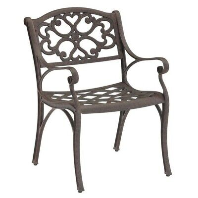 Home Styles Biscayne Outdoor Dining Arm Chair in Rust Bronze Set of 2 Arms Outdoor Benches