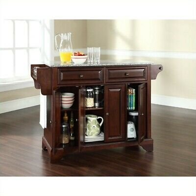 Crosley Furniture LaFayette Solid Granite Top Kitchen Island in Mahogany ()