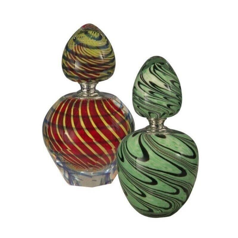 Dale Tiffany 2 Piece Swirl Perfume Bottle