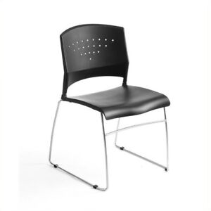 Awe Inspiring Boss Plastic Economical Black Stack Chair With Chrome Frame Five Chairs Dailytribune Chair Design For Home Dailytribuneorg