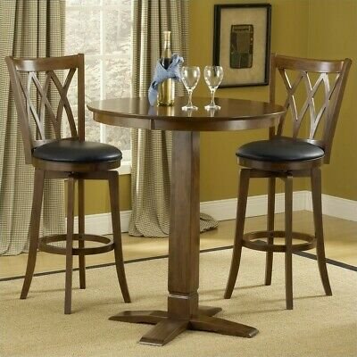 Hillsdale Dynamic Designs 3 Piece Pub Table Set in Brown Cherry