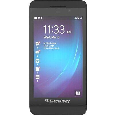 NEW BlackBerry Z10 - Black (Unlocked) GSM 3G 4G WiFi Touch Smartphone STL100-1