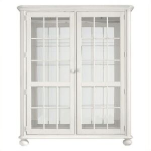 Large Storage Cabinet in Saltbox White by Stanley Furniture