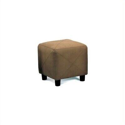 Coaster Mocha Contemporary Microfiber Cube Ottoman