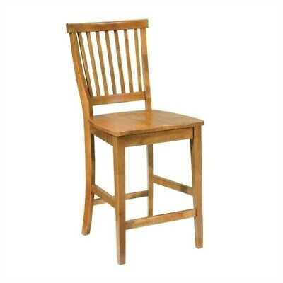 """Home Styles Arts & Crafts 24.5"""" Counter Stool in Cottage Oak"""