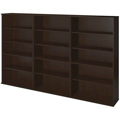Bush Business Series C Elite 66H 3 Piece Bookcase Set in Mocha Cherry
