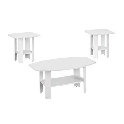Monarch 3 Piece Coffee Table Set in White