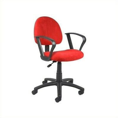 Boss Office Microfiber Deluxe Posture Office Chair with Loop Arms in (Deluxe Office Posture Chair)