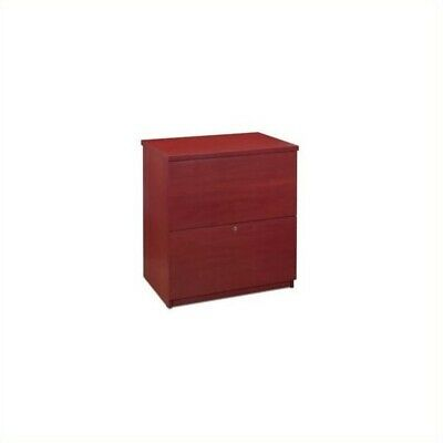 Bestar 2 Drawer Lateral Wood File Cabinet In Bordeaux