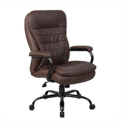 Boss Office Heavy Duty Office Chair In Bomber Brown