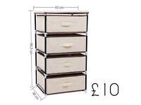 Songmics 4 Drawer Beige DIY Storage Wardrobe Cabinet Multiple- Purpose Storage