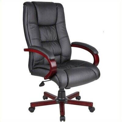Boss Office High Back Executive Office Chair In Mahogany
