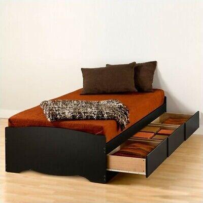 Prepac Sonoma Black Twin XL Platform Storage Bed with Drawer