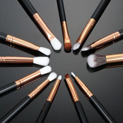 12PC Pro Makeup Brushes Set Eyeshadow Foundation Powder Eyeliner Lip Brush Tools