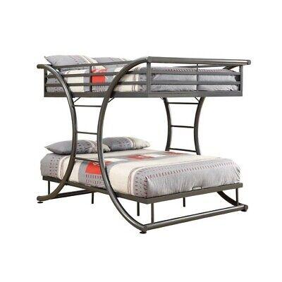 Coaster Stephan Full Over Full Metal Bunk Bed in Gunmetal