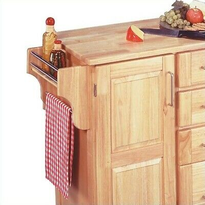 Kitchen Cart With Breakfast Bar - Home Styles Furniture Kitchen Cart with Breakfast Bar in Natural