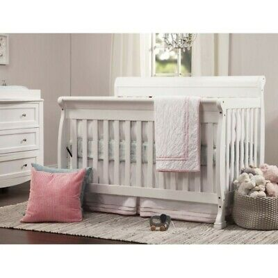 DaVinci Kalani 4-in-1 Convertible Wood Baby Crib in White (White 4 In 1 Baby Crib)