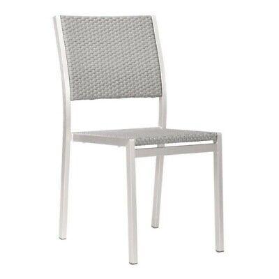 Zuo Metropolitan Patio Dining Chair in Gray (Set of 2) - Metropolitan Patio Furniture
