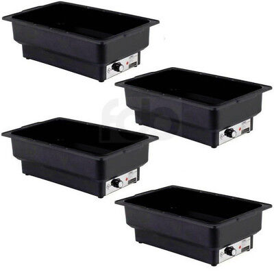 4 Pack Electric Fuel Chafer Chafing Dish Steam Full Food Water Pan Table Warmer