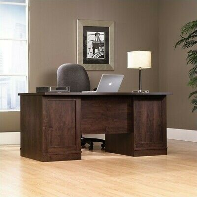 Sauder Office Port Executive Computer Desk in Dark -