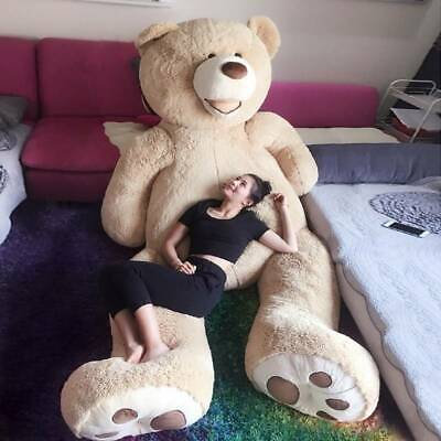 260cm/2.6M Light Brown Giant Skin Teddy Bear Big Stuffed Toy(Only cover)US