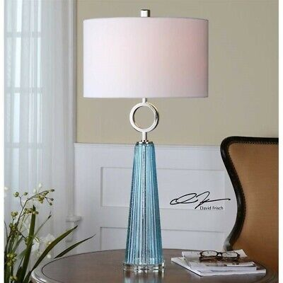 Uttermost Navier Blue Glass Table Lamp