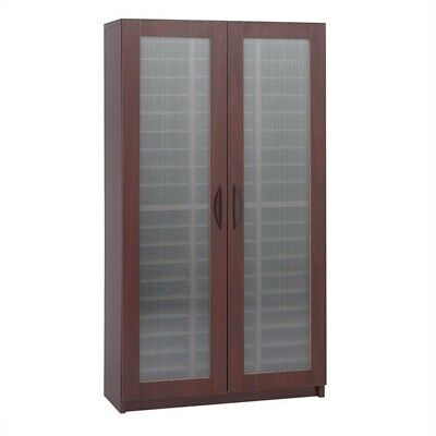 Safco Mahogany 60 Compartment Mail Organizer With Doors