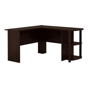 L-SHAPED DESK WITH BOOKSHELVES NEW IN BOX