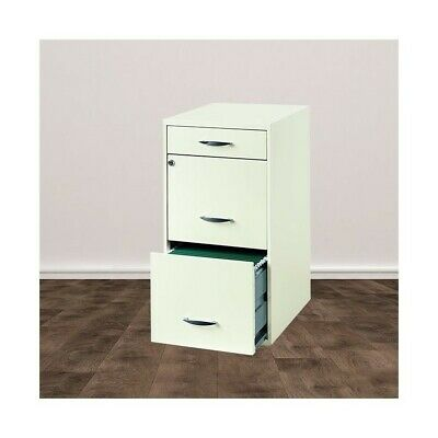 Trent Home Lineal 3 Drawer Steel File Cabinet In White