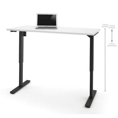 Bestar 30 X 60 Power Adjustable Standing Desk In White