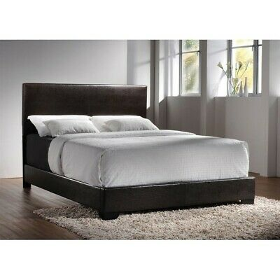 Coaster Conner California King Upholstered Platform Bed in Cappuccino Coaster Furniture Contemporary Bed