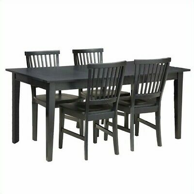 Home Styles Arts & Crafts 5 Piece Dining Set in Ebony